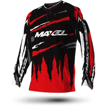 CAMISETA TERMICA MAXEL BLACK RED M - TRANSFORMET_TOP_DAK