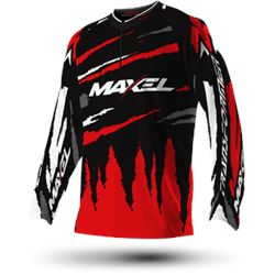 CAMISETA TERMICA MAXEL BLACK RED XXL